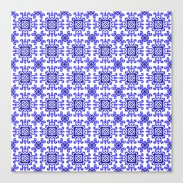 Classic European Blue Tiles Canvas Print