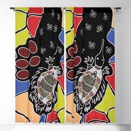 Authentic Aboriginal Art – Echidna Dreaming Blackout Curtain