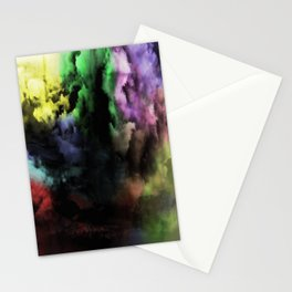 Mixed Emotions - Cloudy Black And Colour Abstract Stationery Cards