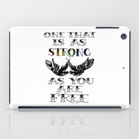 larry stylinson iPad Cases featuring One that's strong as you are free (Larry Stylinson) by Arabella