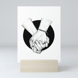 Is it time for us? LGBT love Mini Art Print