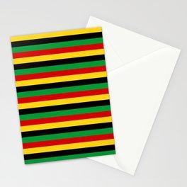 Guinea-Bissau Sao Tome and Principe flag stripes Stationery Cards