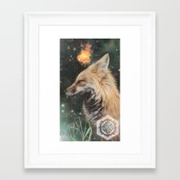 kitsune Framed Art Prints featuring Kitsune by OhhMika the Fox King