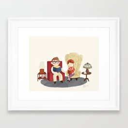 Carl and Ellie (from Pixar's 'Up') Framed Art Print