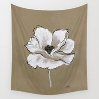 poppy Wall Tapestries featuring Poppy by Mich Li
