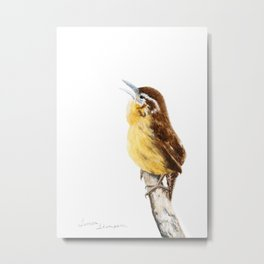 """Sweet Melody"" Carolina Wren by Teresa Thompson Metal Print"