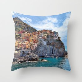 Colorful Italy Throw Pillow