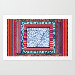 Peruvian Fabric Art Print