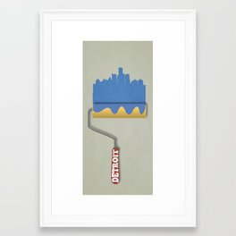 Detroit Roller Framed Art Print