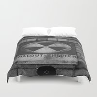 fallout Duvet Covers featuring Fallout by Lia Bedell