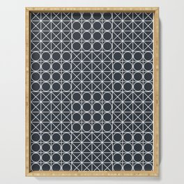 Geometric Tile Pattern Serving Tray