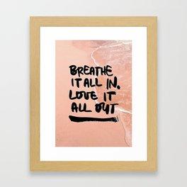 Pastel Pink Beach Framed Art Print