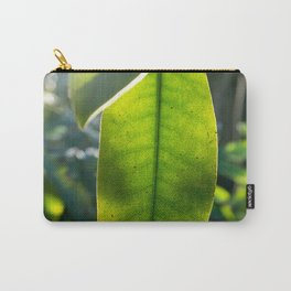 botanical art of a green leaf in nature | fine art macro photography Carry-All Pouch