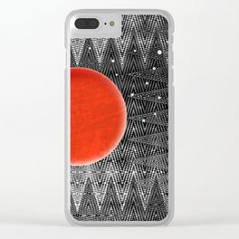 Bodacious Blood Moon Clear iPhone Case