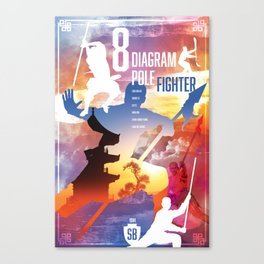 Shaw Brothers Poster Series :: 8 Diagram Pole Fighter Canvas Print