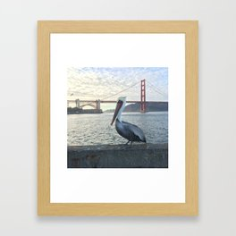 Sitting at the Dock of the Bay Framed Art Print