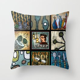 Beatnik Collage Throw Pillow