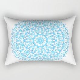 Mandala 12 / 3 eden spirit light blue turquoise white Rectangular Pillow