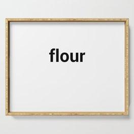 flour Serving Tray