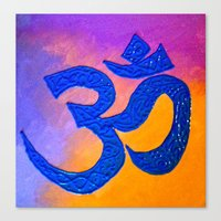 ohm Canvas Prints featuring Ohm by KD Ives