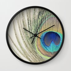 Peacock Feather No.2 Wall Clock