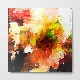 Burnt Colours Autumn Abstraction Metal Print