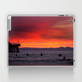 Surfers watching Sunset Laptop & iPad Skin