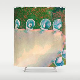 Kalanchoe Abstract Shower Curtain