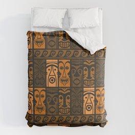 Sunset Orange Tikis! Comforters