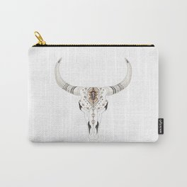 Boho Tribal Animal Skull Aztec Decorative. Carry-All Pouch