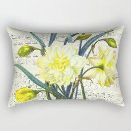 Daffodil Spring Song Rectangular Pillow