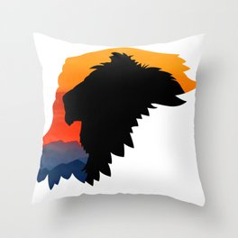 Griffon Rider Throw Pillow