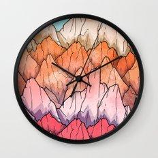 The mountain peaks Wall Clock