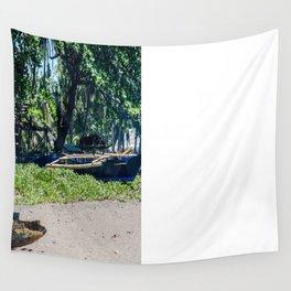 Weathered 'Bangka' Kayak Wall Tapestry