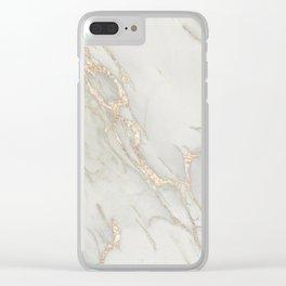 Marble Love Bronze Metallic Clear iPhone Case