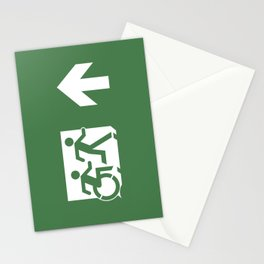 Wheelchair Disabled Exit Sign, with Accessible Means of Egress Icon Stationery Cards