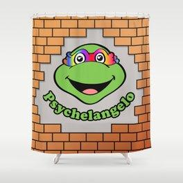 Psychelangelo - The Lost Ninja Turtle Shower Curtain