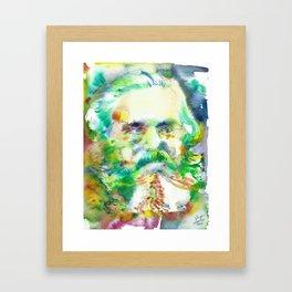 KARL MARX - watercolor portrait Framed Art Print