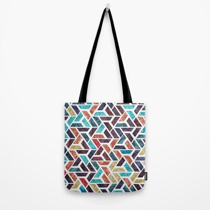 Seamless Colorful Geometric Pattern XVI Tote Bag