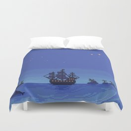 The Jolly Roger - Second Star to the Right Duvet Cover