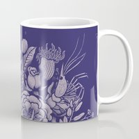 victorian Mugs featuring Undersea Victorian by Lidija Paradinović Nagulov - Celandine