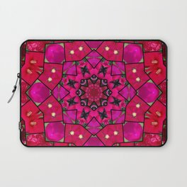 Garden mosaic kaleidoscope mandala - hot pinks Laptop Sleeve