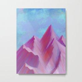 Cotton Candy Mountains Metal Print