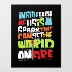 a spark inside Canvas Print