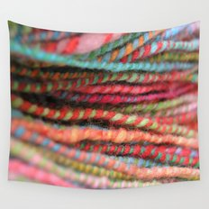 Handspun Yarn Color Pattern by robayre Wall Tapestry