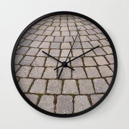 Radial Pavement Tiles Wall Clock