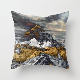 Gold Mountain Throw Pillow
