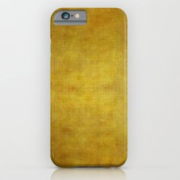 """Gold & Ocher Burlap Texture"" iPhone Case"