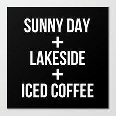 Sunny Day+Lakeside+Iced Coffee Canvas Print