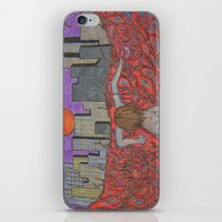sin city iPhone & iPod Skins featuring Sin Beneath the City by Labartwurx